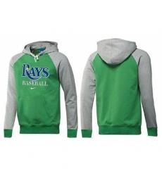 MLB Men Nike Tampa Bay Rays Pullover Hoodie GreenGrey