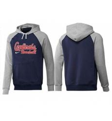 MLB Men Nike St Louis Cardinals Pullover Hoodie NavyGrey
