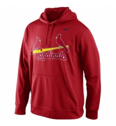 MLB St Louis Cardinals Nike Men KO Wordmark Perfomance Hoodie Red