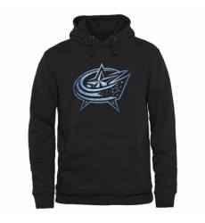 NHL Mens Columbus Blue Jackets Rinkside Pond Hockey Pullover Hoodie Black