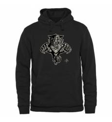NHL Mens Florida Panthers Black Rink Warrior Pullover Hoodie