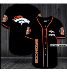 Customized Denver Broncos Baseball MLB Jersey