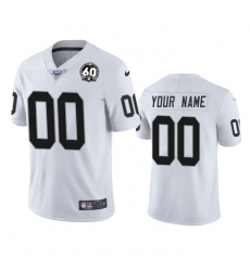 Men Women Youth Toddler Nike Las Vegas Raiders Custom White 60th Anniversary Vapor Limited Stitched NFL 100th Season Jersey