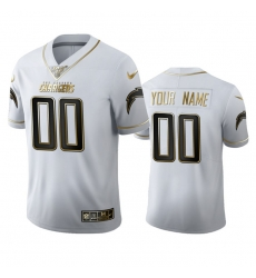 Men Women Youth Toddler Los Angeles Chargers Custom Men Nike White Golden Edition Vapor Limited NFL 100 Jersey
