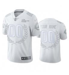 Men Women Youth Toddler Los Angeles Rams Custom Men 27 Nike Platinum NFL MVP Limited Edition Jersey