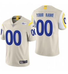 Men Women Youth Toddler Los Angeles Rams Custom Men Nike Bone 2020 Vapor Untouchable Limited NFL Jersey