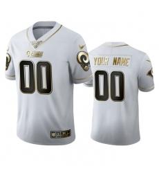 Men Women Youth Toddler Los Angeles Rams Custom Men Nike White Golden Edition Vapor Limited NFL 100 Jersey