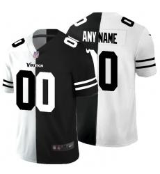 Men Women Youth Toddler Minnesota Vikings Custom Men Black V White Peace Split Nike Vapor Untouchable Limited NFL Jersey