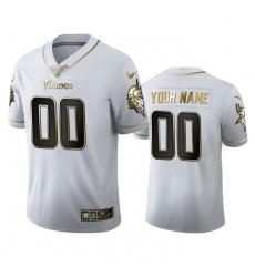 Men Women Youth Toddler Minnesota Vikings Custom Men Nike White Golden Edition Vapor Limited NFL 100 Jersey