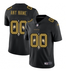 Men Women Youth Toddler New Orleans Saints Custom Men Nike Team Logo Dual Overlap Limited NFL Jerseyey Black