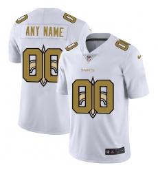 Men Women Youth Toddler New Orleans Saints Custom White Men Nike Team Logo Dual Overlap Limited NFL Jersey