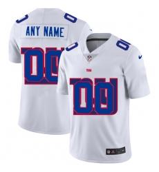 Men Women Youth Toddler New York Giants Custom White Men Nike Team Logo Dual Overlap Limited NFL Jersey