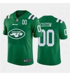 Men Women Youth Toddler New York Jets Custom Green Men Nike Big Team Logo Player Vapor Limited NFL Jersey