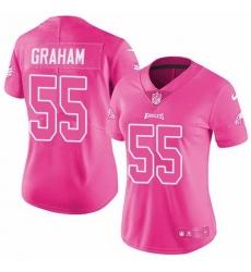 Men Women Youth Toddler Nike Philadelphia Eagles Limited Pink Rush Fashion NFL Jersey
