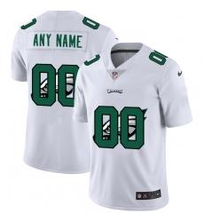 Men Women Youth Toddler Philadelphia Eagles Custom White Men Nike Team Logo Dual Overlap Limited NFL Jersey