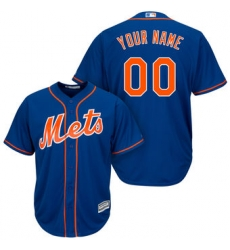 Men Women Youth All Size New York Mets Majestic Royal Cool Base Custom Jersey Blue 3