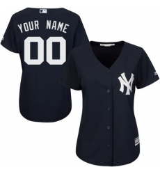 Men Women Youth All Size New York Yankee Custom Cool Base MLB Jersey Navy