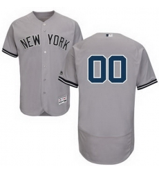 Men Women Youth All Size New York Yankees Majestic Road Gray Flex Base Authentic Collection Custom Jersey