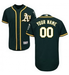 Men Women Youth All Size Oakland Athletics Majestic Alternate Green Flex Base Authentic Collection Custom Jersey