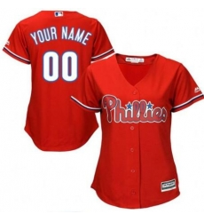 Men Women Youth All Size Philadelphia Phillies Cool Base Custom MLB Jersey Red