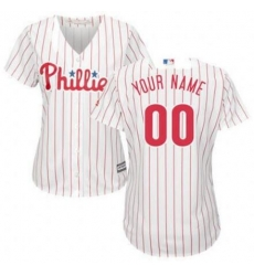 Men Women Youth All Size Philadelphia Phillies Cool Base Custom MLB Jersey White Red Strips