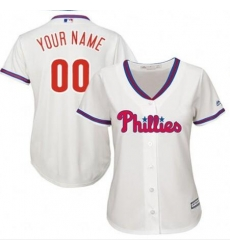 Men Women Youth All Size Philadelphia Phillies Cool Base Custom MLB Jersey White