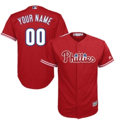 Men Women Youth All Size Philadelphia Phillies Red Cool Base Man Custom Jerseys 3