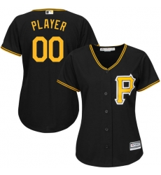 Men Women Youth All Size Pittsburgh Pirates Cool Base Custom Jersey Black