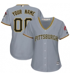 Men Women Youth All Size Pittsburgh Pirates Cool Base Custom Jersey Grey