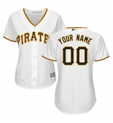 Men Women Youth All Size Pittsburgh Pirates Cool Base Custom Jersey White