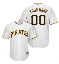 Men Women Youth All Size Pittsburgh Pirates Majestic White Cool Base Custom Jersey 3