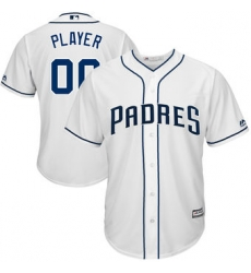 Men Women Youth All Size San Diego Padres Majestic White Cool Base Custom Baseball Jersey