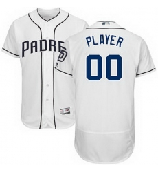 Men Women Youth All Size San Diego Padres Majestic White Home Flex Base Authentic Collection Custom Jersey