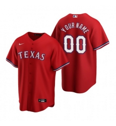 Men Women Youth Toddler All Size Texas Rangers Custom Nike Red 2020 Stitched MLB Cool Base Jersey