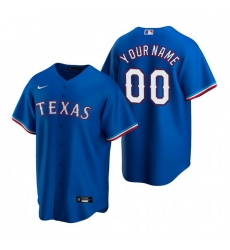 Men Women Youth Toddler All Size Texas Rangers Custom Nike Royal Stitched MLB Cool Base Jersey