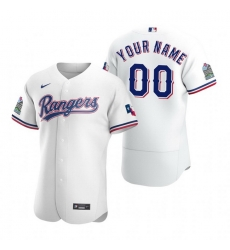 Men Women Youth Toddler All Size Texas Rangers Custom Nike White Stitched MLB Flex Base 2020 Home Jersey