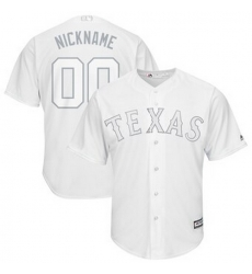 Men Women Youth Toddler All Size Texas Rangers Majestic 2019 Players Weekend Cool Base Roster Custom White Jersey