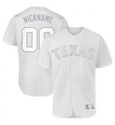 Men Women Youth Toddler All Size Texas Rangers Majestic 2019 Players Weekend Flex Base Authentic Roster Custom White Jersey