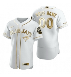 Men Women Youth Toddler All Size Toronto Blue Jays Custom Nike White Stitched MLB Flex Base Golden Edition Jersey