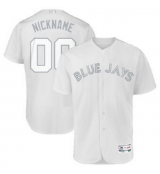 Men Women Youth Toddler All Size Toronto Blue Jays Majestic 2019 Players Weekend Flex Base Authentic Roster Custom White Jersey