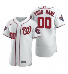 Men Women Youth Toddler All Size Washington Nationals Custom Nike White 2020 Stitched MLB Flex Base Jersey