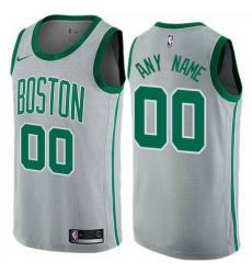 Men Women Youth Toddler All Size Nike Boston Celtics Customized Swingman Gray NBA City Edition Jersey
