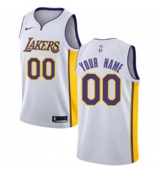 Men Women Youth Toddler All Size Nike Los Angeles Lakers Customized Authentic White NBA Association Edition Jersey