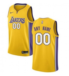 Men Women Youth Toddler All Size Nike Los Angeles Lakers Customized Swingman Gold Home NBA Icon Edition Jersey