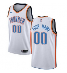 Men Women Youth Toddler All Size Nike Oklahoma City Thunder Customized Swingman White Home NBA Association Edition Jersey