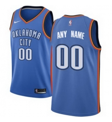 Men Women Youth Toddler All Size Oklahoma City Thunder Nike Blue Swingman Custom Icon Edition Jersey