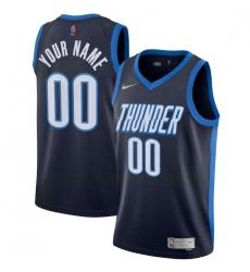 Men Women Youth Toddler All Size Oklahoma City Thunder Nike Navy Blue Swingman Custom Icon Edition Jersey
