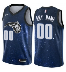 Men Women Youth Toddler All Size Nike Orlando Magic Customized Authentic Blue NBA City Edition Jersey
