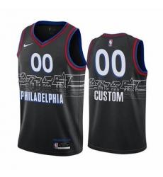 Men Women Youth 2020-2021 City Version Philadelphia 76ers Black Custom jersey