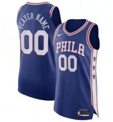 Men Women Youth Philadelphia 76ers Nike Blue Custom Jersey Icon Edition